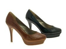 Womens Stiletto Platforms Court Shoes High Heels Office Party Shoes Size UK 3-8