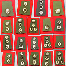 Olive Green Foot Guards Officer Rank Slides Grenadier Guards Coldstream Guards