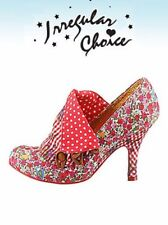 Irregular Choice Court Shoes Flick Flack Red blumenmuster Red Size 39 NEW