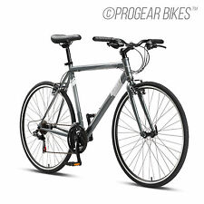 Progear FB100 Flat Bar Road Bike 700C 50/53/56cm Bicycle Hazy Grey