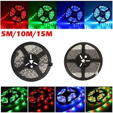 5M 10M 15M 3528 5050 RGB SMD 60leds/m LED Strip Rope Fairy Light W/ Remote Strin