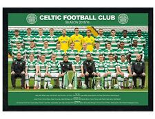 Celtic Football Club Black Wooden Framed Team Photo 2015/16 Poster 91.5x61cm