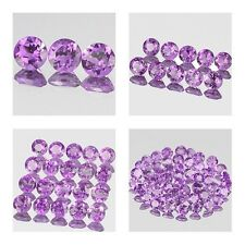 4mm Lot 3,10,20,50pcs Round Cut Side Stone Natural A Purple AFRICA AMETHYST