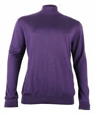 Stefano Ricci New Men's Purple Cashmere & Silk Turtleneck Sweater, XL, 2XL, 3XL