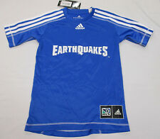 San Jose Earthquakes Youth XS Youth Adidas Climalite Jersey MLS Blue A14BL