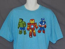 Minecraft Tee Shirt Mens Size XL Marvel Comics Hulk Iron Man Captain America New