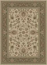 IVORY traditional PERSIAN formal FLORAL area RUG oriental GREEN bordered CARPET