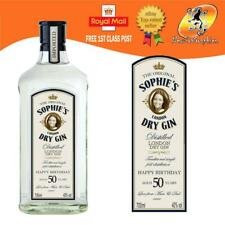 PERSONALISED LONDON DRY GIN REPLICA BOTTLE LABEL BIRTHDAY ANY OCCASION GIFT