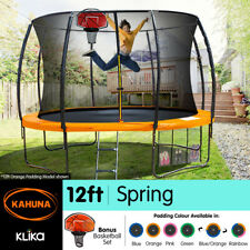 12ft Round Trampoline Safety Net Spring  Safety Pad Cover Mat Free Basket Ball