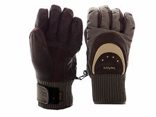 Level Gloves Seventy Brown Leather Unisex Winter Gloves