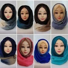 Ombre two toned maxi hijab, one piece scarves, shimmer, wedding wear hijab.