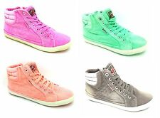 Replay Womens Trainers Ladies Munch Hi-Tops UK Size 3.5 - 7 NEW 4 COLOURS