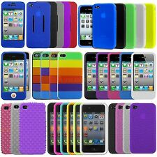 Stylish Soft Silicone Gel Bumper Skin Back Case Cover For Apple iPhone 4, 4G, 4S
