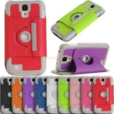 360 Rotatable Leather Case Cover With Holder For Samsung I9500 Galaxy S4 S IV
