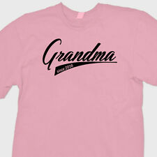 GRANDMA Since 2016 T-shirt Funny Gift New Baby Shower Mothers Day Tee Shirt