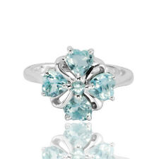Natural Gemstone Sky Blue Topaz Solid 925 Sterling Silver Ring (gr482)