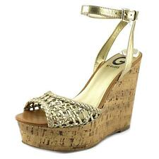 G By Guess Ethal Women  Open Toe Synthetic  Platform Sandal NWOB