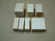 Basswood Blocks, Pieces, Lumber, Squares,Variety Sizes, Carving wood , turning