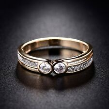 Exclusive 18K Gold Filled Sapphire Crystal Fashion Eternity Wedding Rings Sz6-9