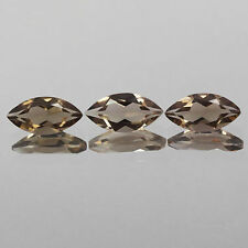 4x2mm Lot 3,10pcs Marquise Cut Natural Earth-Mined Smoky Brown QUARTZ