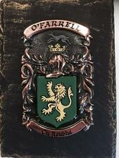 Your HANDPAINTED Name Crest on SLATE PLAQUE - Coat of Arms STYLE to VARLEY