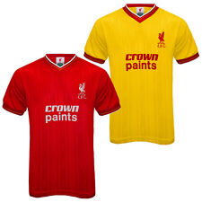 Liverpool FC Official Soccer Gift Mens 1986 Retro Home & Away Kit Shirt