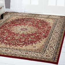 Red Cream Bordered Area Rug Traditional Persian Oriental Carpet Rugs Area Rugs