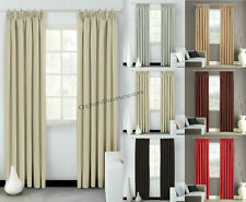 Thermal Blackout Pencil Pleat Curtains Ready Made Fully Lined With Free Tiebacks