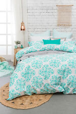 Bambury Ashleigh 3 or 5 Pce King Size Quilt / Doona Cover Set 300TC Cotton NEW