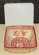 Temp-tations 1.5 Qt. Sq.Oven-to-table  Ceramic Baker W/covers  K8103 Old World