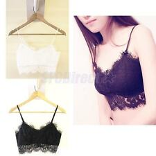 FASHION WOMENS LACE BRA TANK TOP BUSTIER VEST CROP BRALETTE TOP SEXY BLOUSE CAMI