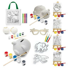 Childrens Decorate Your Own Gift Party Bag Xmas Stocking Filler Colour Paint Art
