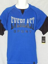 Everlast Boxing Blue Twofer Tee Shirt Mens Sizes MMA Gym Training Fight Workout