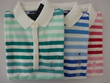 NWT Tommy Hilfiger Claasic Fit Striped Polo Shirt For Women XS S M L XL
