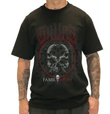 SULLEN CLOTHING FAMILY FIRST SKULLS DEATH PUNK GOTH TATTOO BLACK T SHIRT M-5XL