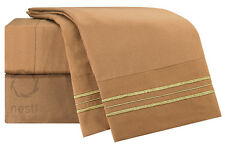 Nestl Bedding 1800 Thread Count Microfiber Sparrow Bed Sheet Set
