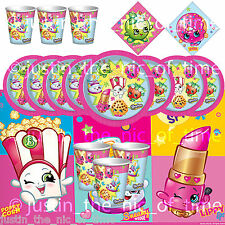 SHOPKINS Tableware Plates, Cups, Napkins, Tablecover PARTY KITS 8 - 48 Guests