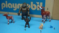 Playmobil wild life zoo safari Okapi Gorilla bird rabbit CHOOSE one animal 123