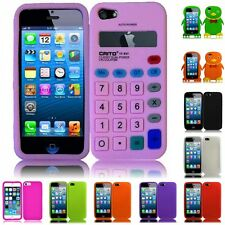 For Apple Iphone 5 Calculator Silicone Skin Cover Case
