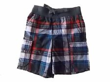 NWT Boy's Gymboree Everyday All Star plaid elastic shorts ~ 18-24 months 2T