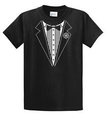 Tuxedo Printed Tee Shirts Mens Regular and Big and Tall Sizes Port & Company