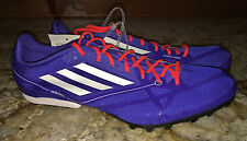 New Mens 6 8.5 9 10.5 ADIDAS AdiZero MD 2 Mid Distance Track Spikes Shoes Blue