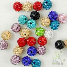 5/20/100pc Czech Dense Crystal Rhinestone Beads10MM Round Ball Spacer Beads