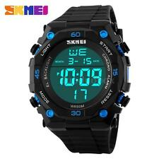 2016 New LED Digital Sports Watch 50M Waterproof Wristwatch Men Boy Watches N2O9