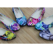 Womens Ballet Casual Flats Loafers Floral Pointed Toe Shoes Wedding Comfy Shoes