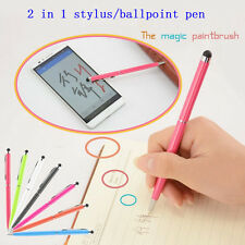 Popular 2 in1 Capacitive Touch Screen Stylus/Ball Point Pen for iPad iPhone iPod