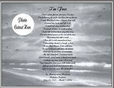 Personalized Memorial Poem I'm Free For Loss of Loved One Mother Father Husband