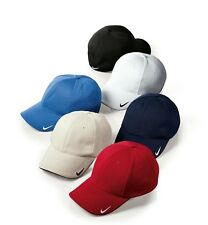 Nike Golf Hat Cap Swoosh Mesh Sandwich Back Flex-fit  Fitted 333115