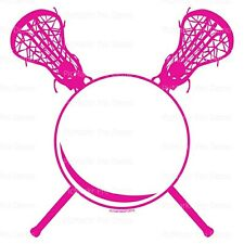 Pink Lacrosse Birthday  ~ Frosting Cake Topper ~ Edible Image ~ D20632