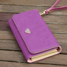 Women Ladies Long Matte PU Leather Wallets Coin Purses Card Holder Handbag